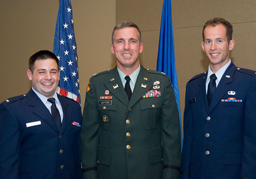 PRGS Military Fellows Jeff Peterson and Jamie Gayton