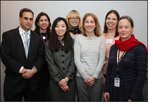 Seth Jones, Rachel Swanger, Emily Beltramo, Sarah Gaillot ('05 cohort), Elizabeth Brown (current fellow, '05 cohort), Diana Epstein ('05 cohort) and Yuna Huh Wong ('00 cohort).)