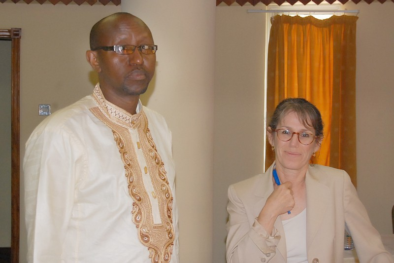 Dr. Julius Gatune, ACET, and Dr. Deborah Cohen, RAND at the final stakeholders meeting