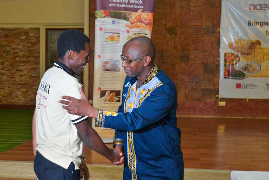 Donald Baguma, youth foodie runner-up